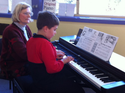Students playing piano